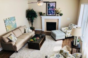 The Gardens at Fieldstone home interior - living area