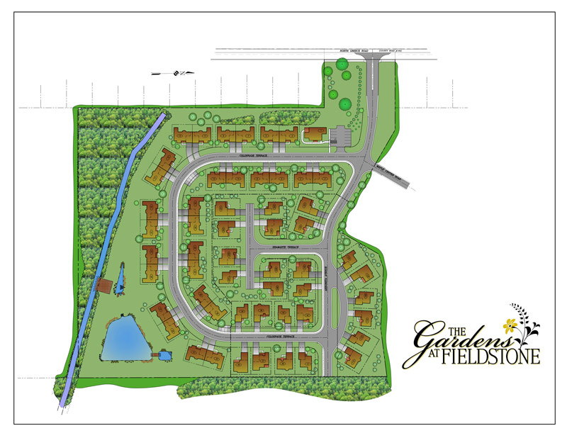 Map of the Gardens at Fieldstone
