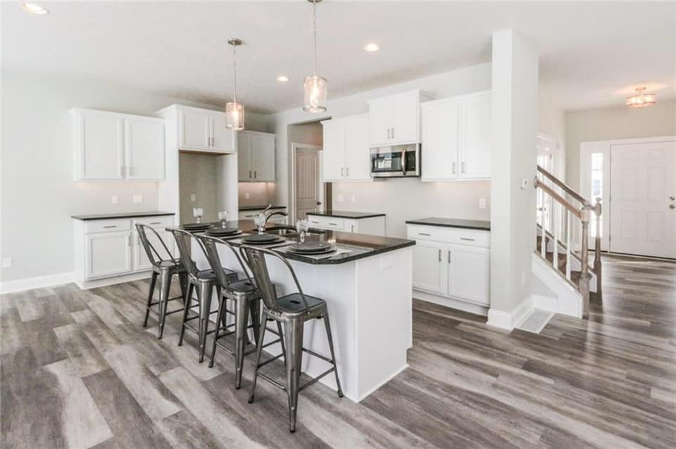 Beautifully designed kitchen countertop