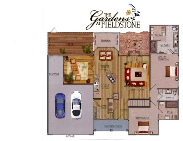Gardens at Fieldstone Floor map