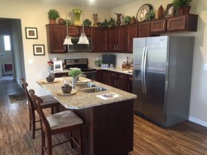 Model Home Kitchen area